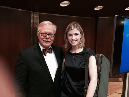 Ms. Haley with Kurt Sassmannshaus at Juilliard's 2015 Starling-Delay Symposium on Violin Studies
