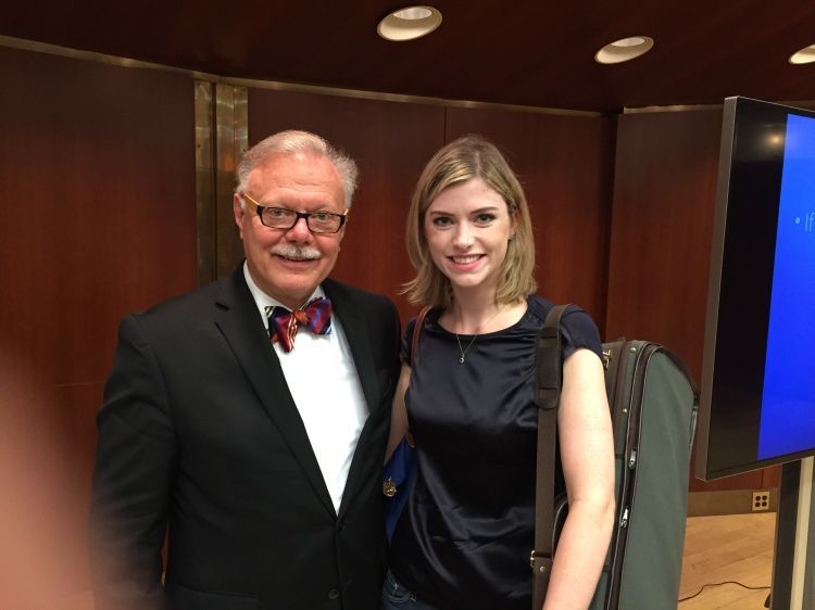 Kurt Sassmannshaus and Lauren Haley at Juilliard's 2015 Starling-Delay Symposium on Violin Studies