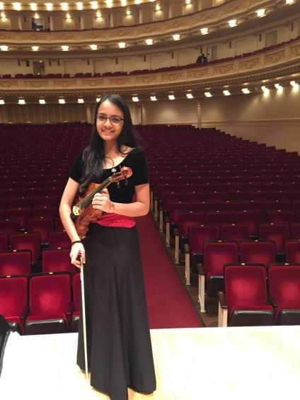 Ananya at Carnegie Hall!