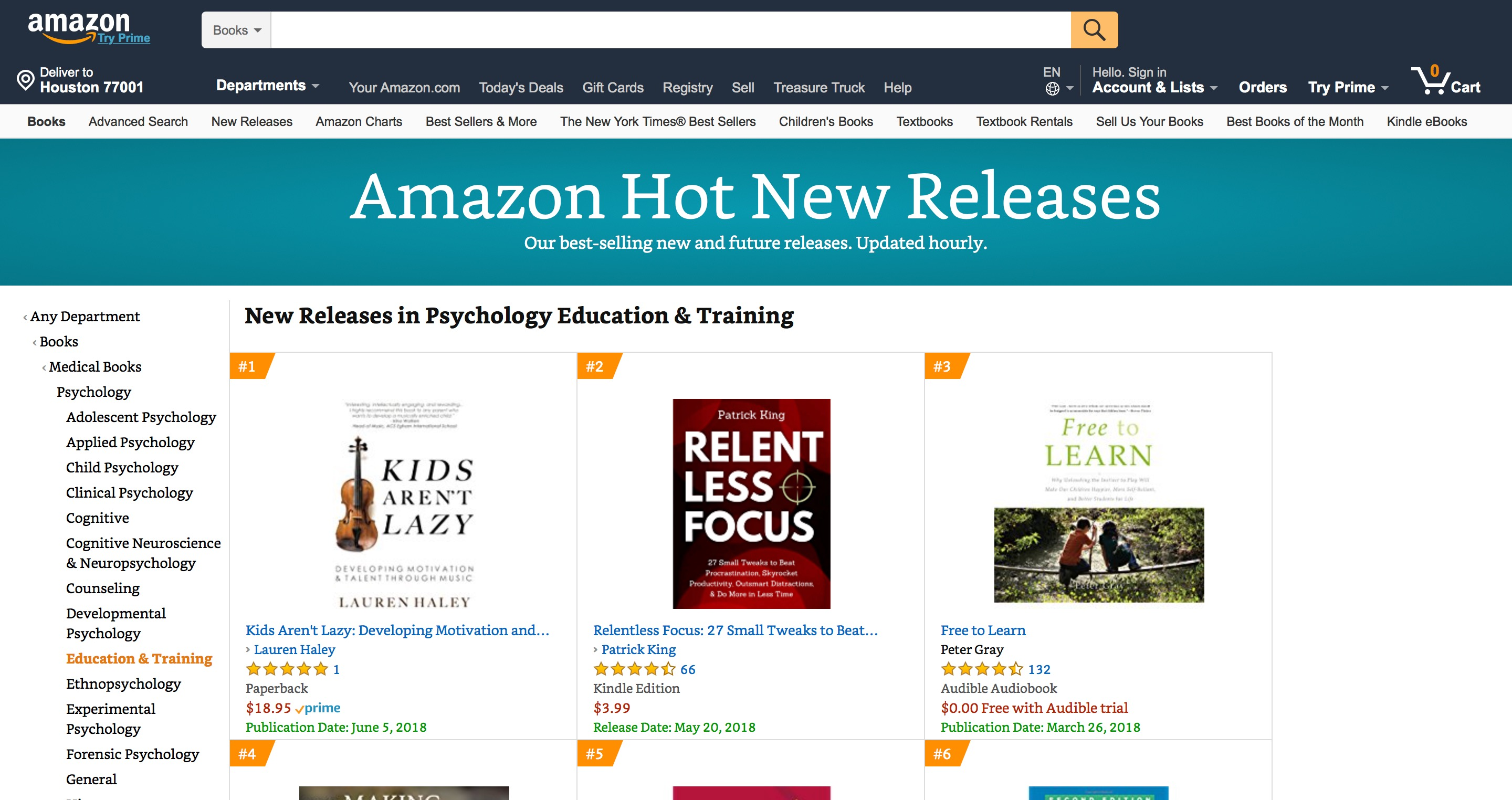 New Release Psychology Education & Training