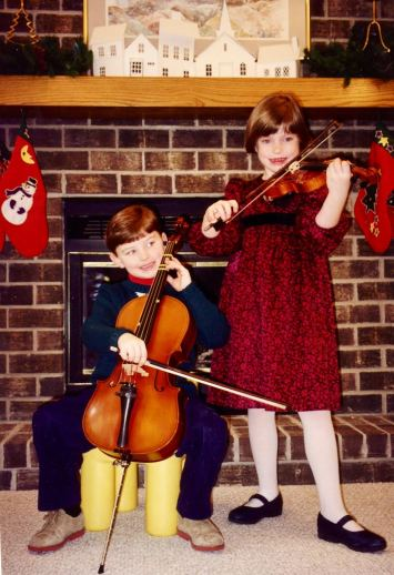 Ms. Haley and brother Nathan in the '90s