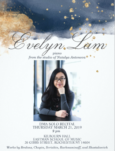 Evelyn Lam DMA Recital Poster March 2019