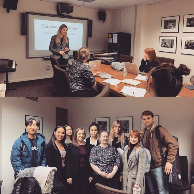 Speaking with Dr. Caravan's pedagogy class at ESM (February 2020)